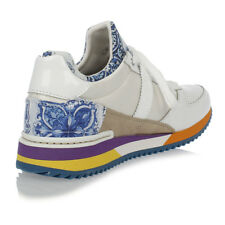 DOLCE&GABBANA New Woman White Floral SNeakers laced Shoes Made in Italy