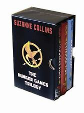 THE HUNGER GAMES TRILOGY Boxed Set Hardcover Suzanne Collins Like New Scholastic