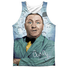 Three Stooges Curly Heads Mens Sublimation Tank Top Shirt