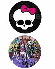 Monster High Round Edible Party Cake Image Topper Frosting Icing Sheet