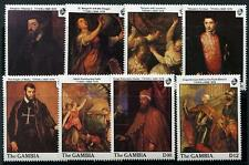 GAMBIA Sc.# 753-60 Titian Paintings Stamps