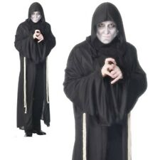 Mens Grim Reaper Halloween Fancy Dress Costume Reapers Outfit M,L