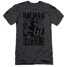 Batman Caped Crusader Mens Slim Fit Shirt