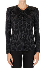 ROBERTO CAVALLI New woman Sweater Cardigan Wool Round neck Made in Italy