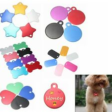 Personalised Customised Name ID Engraved Paw Dog Tag Puppy Cat Pet Animal Tags