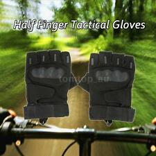 Hard Knuckle Tactical Gloves Half Finger Sport Cycling Paintball Hunting L0E4