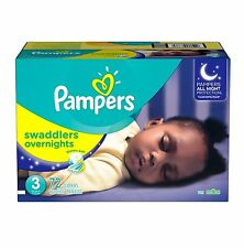 Pampers Swaddlers Overnights Diapers Choose Size Swaddlers Wetness Indicator