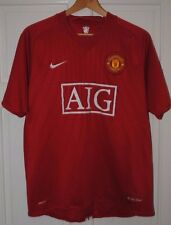 MANCHESTER UNITED SIZE L 2007 /2008 /2009 HOME FOOTBALL SHIRT NIKE large utd