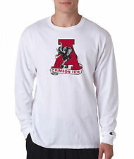 Alabama Crimson Tide ELEPHANT Champion LONG SLEEVE T-Shirt Mens Tagless T Shirt