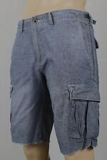 Denim Supply Ralph Lauren Blue Slim Denim Distressed Cargo Shorts NWT