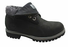 Timberland AF Roll Top Mens Boots Black Leather roll Down Winter 6452A D101
