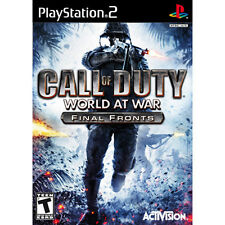 COD Call of Duty: World at War Final Fronts [T] PS2  DISC ONLY