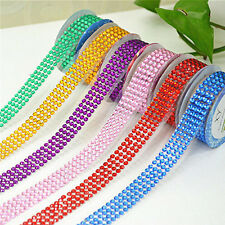 Self-Adhesive Acrylic Rhinestones Sticker Tape DIY Stick On Scrapbooking Craft
