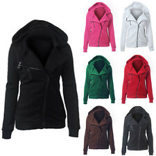 New Womens Zip Hoodie Ladies Sweatshirt Hoodies Hooded Jacket Sweater Outerwear