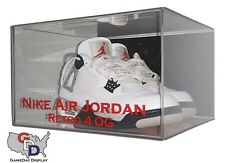 Customize Personalize Acrylic Wall Mount Shoe Display Case by GameDay Display UV