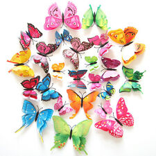 3D 12pcs Butterfly Design Decal Art Wall Stickers Room Decoration Home Decor CHI