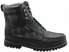 Timberland AF Newmarket 9 Eye Woolrich Leather Mens Boots Black 43583 D82