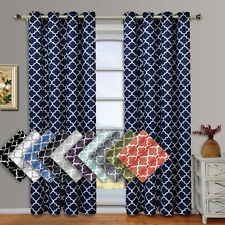"""Meridian Thermal Insulated Blackout Grommet Curtains (Set of 2) 104W x 63""""L"""
