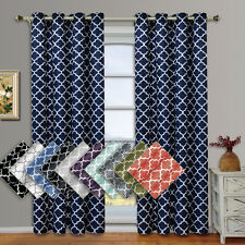 """Meridian Thermal Insulated Blackout Grommet Curtains (Set of 2) 104W x 96""""L"""