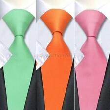 Classic Skinny Men's Slim Tie Solid Color Plain Silk Jacquard Woven Necktie