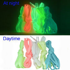 Luminous Glow In The Dark Shoelace Flat Athletic Sport Boots Shoe Laces Strings