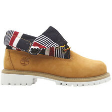Timberland Junior Boys Roll Top Wheat Leather Lace Up Boots (8291R D119)