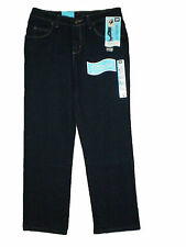 Lee Relaxed Fit Straight Leg Authentic Dark Blue Stretch Denim Petite Jeans New