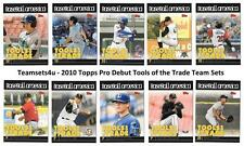 2010 Topps Pro Debut Tools of the Trade Baseball Team Sets ** Pick Your Team Set