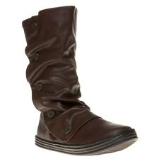 New Womens Blowfish Brown Rammish Synthetic Boots Knee-High Zip