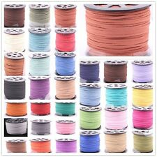 3mm Flat Faux Suede Cord/Lace//Strings Leather Jewelry findings DIY TOP QUALITY