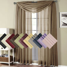 "Abri Rod Pocket Crushed Sheer polyester Curtain 50x84"" Panel (Single) OR Scarf"