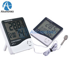 HTC-1/2/3/4 LCD Thermometer Hygrometer Weather Temperature Humidity Alarm Clock