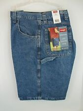 NWT Wrangler Carpenter Light Denim Blue Jean Shorts Tech Pocket Size 38 42 44