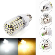 New E14 E27 B22 E12 108LED 5733SMD Corn Bulb Light Cover Lamp Black PCB 220-240V