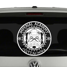 Imperial Academy Coruscant Star Wars Inspired Vinyl Decal Sticker Tie Fighter