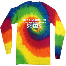 Funny soccer mom dad Shirt tie dye shirt long sleeve tie dyed tee shirt for men