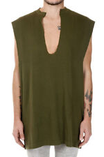 YEEZY ADIDAS New Men Military Green Cotton Tank Top Sleeve Less NWT