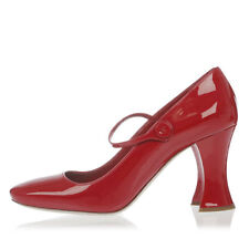 MIU MIU New Woman Pumps Shoes Red Decollettes Leather Made in Italy NWT