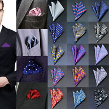 Men Pocket Square Handkerchief Satin Solid Floral Paisley Floral Hanky Party CHI