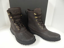Ugg Australia Yucca 1015382 Waterproof Stout Brown Lea./Rubber Duck Boots -New