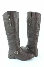 NEW Bucco Brown Panora Gold Accents Womens Knee High Fashion Boot