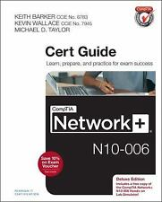 CompTIA NETWORK + N10-006 Cert Guide DELUXE Edition TEXTBOOK By Keith Barker