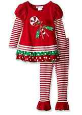Bonnie Jean Girls Christmas Holiday Candy Cane Tunic & Leggings 3M 6M 9M New