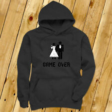 Game Over Marriage Funny Meme Humor Mens Charcoal Hoodie