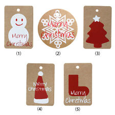 50PCs Christmas Gift Cards Kraft Paper Marker Tags Wedding Party Gift Tags AU