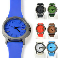Unisex Sport Watches Big Dial Silicone Watch Wristwatch Fashion Casual 7 Colors