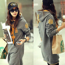 """English Letter Number """"63"""" Pullover Drawstring Womens Hoodie Outwear Sweats Tops"""