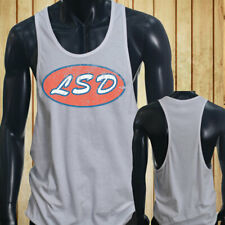 VINTAGE LSD DECAL CULT ACID PSYCHEDELIC SIMPLE Mens White Sports Tank Top