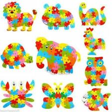 Multi-color Wooden Alphabet Cartoon Animals Puzzle Blocks Kids Baby Funny Toy