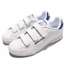 Reebok NPC Straps White Blue Leather Men Court Classic Shoes Sneakers AR1649